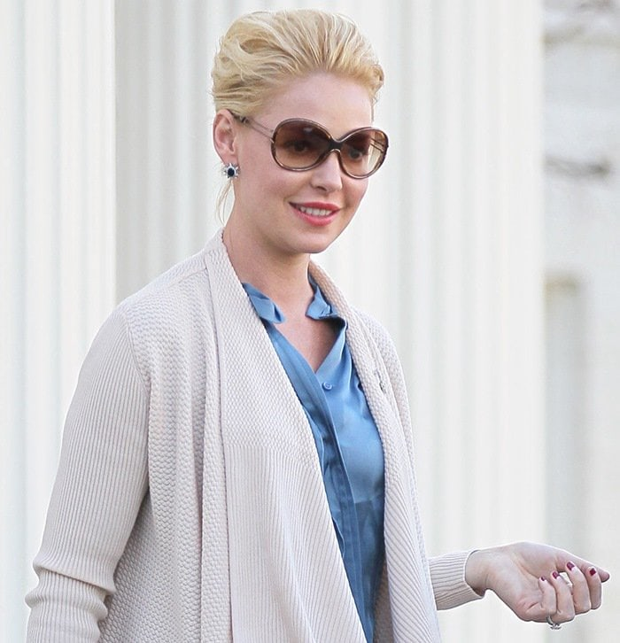 Katherine Heigl leaves an entertainment law office
