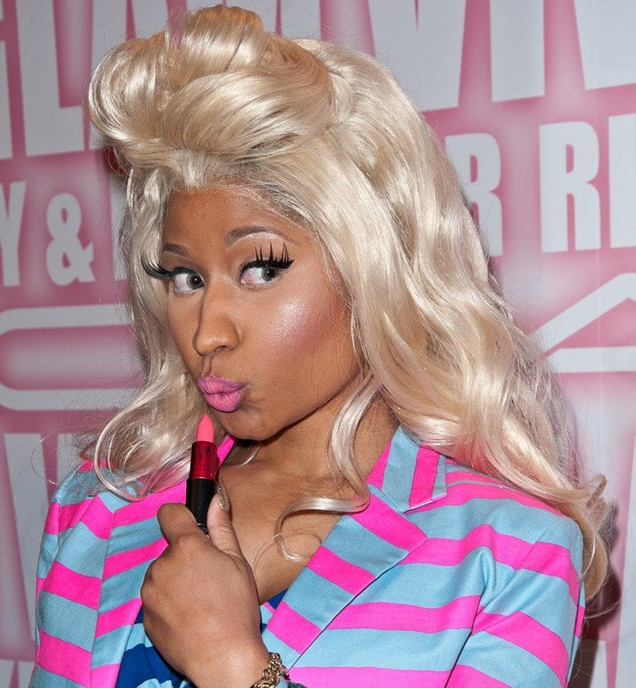 Nicki Minaj's MAC Viva Glam campaign really saves this week from being a big ho-hum