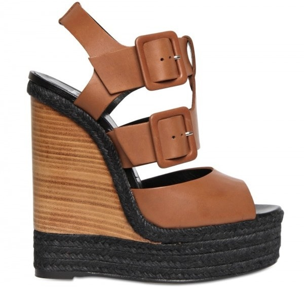 Pierre Hardy Leather Buckled Sandal Wedge