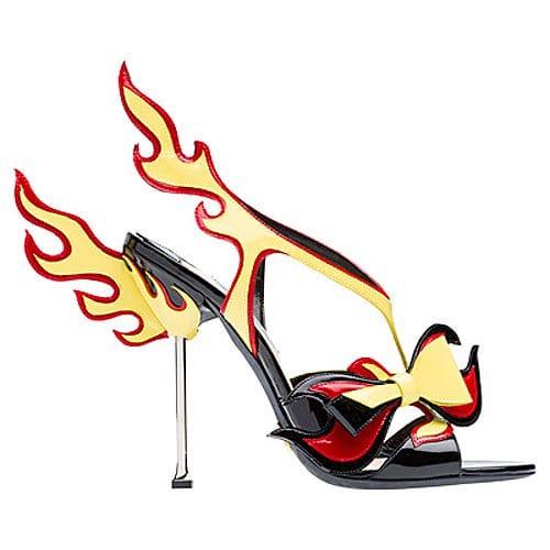 Prada flame bow sandal