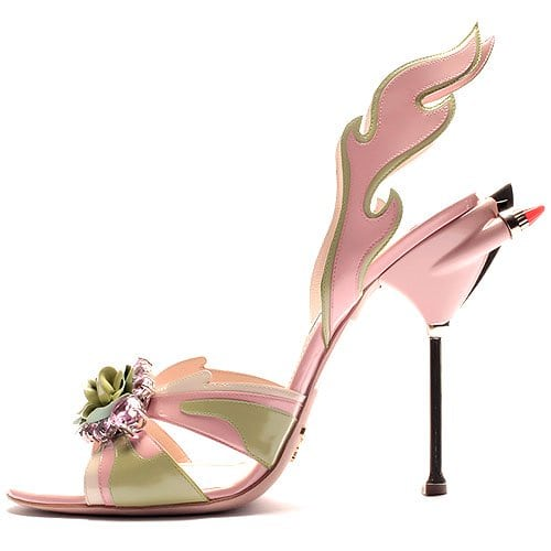 Prada flower flame sandal