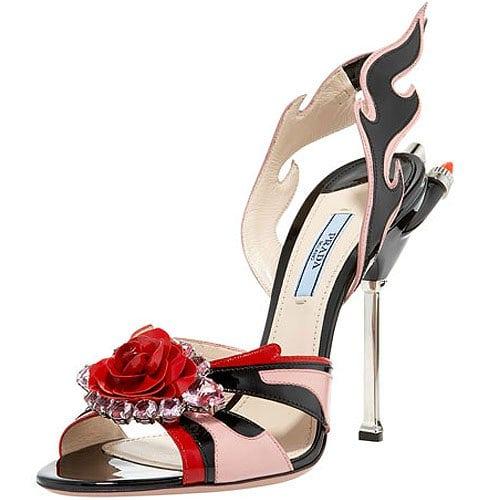 Prada jewel toe flame sandal
