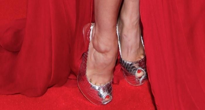 Rose McGowan's feet inGiuseppe Zanotti slingbacks