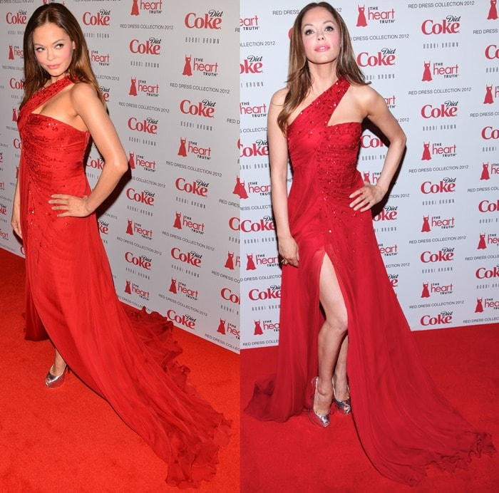 Rose McGowan looked so beautiful in these Giuseppe Zanotti pumps and red gown combo that I'm completely envious