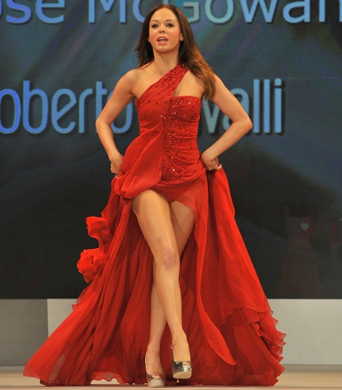 Rose McGowan at Heart Truth's Red Dress Fashion Show