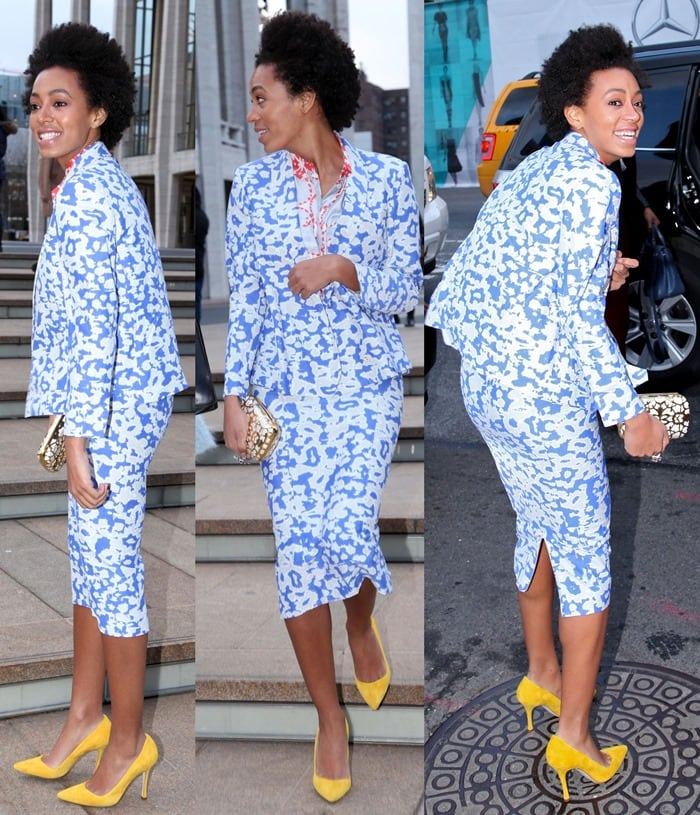 Solange Knowles looks great in color and prints, and here she rocked them both