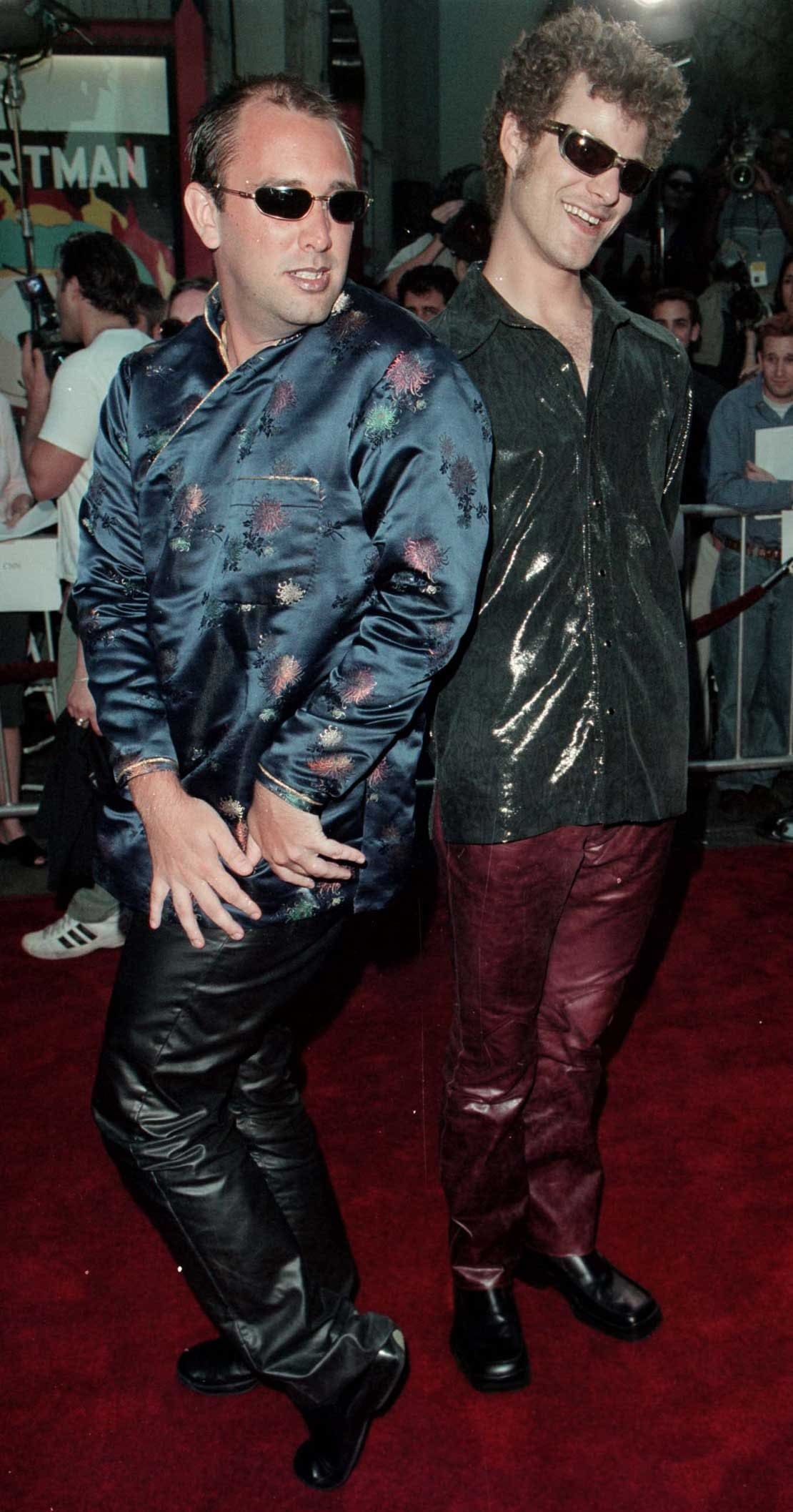"Trey Parker and Matt Stone during the Los Angeles premiere of ""South Park: Bigger Longer & Uncut"""