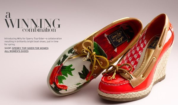 Milly has created a capsule collection for Sperry Top-Sider