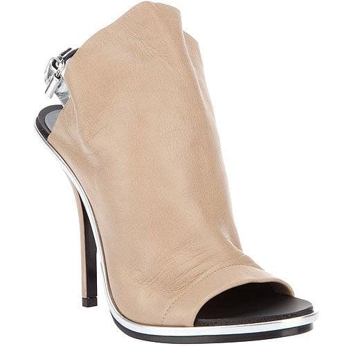 Balenciaga glove sandals in dune and silver