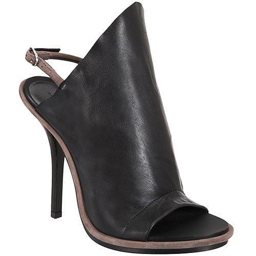 Balenciaga glove sandals in black leather
