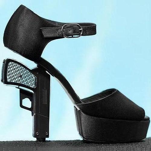 Chanel gun-heeled pumps