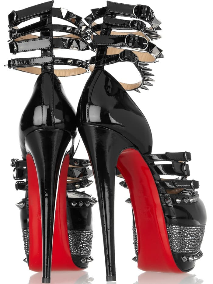4ce770b68cad Christian Louboutin s 20th Anniversary Isolde 160 Patent Leather Sandals