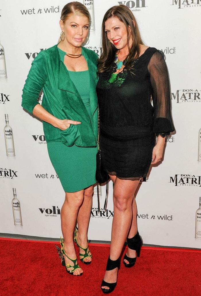 Fergie and her sister Dana Ferguson