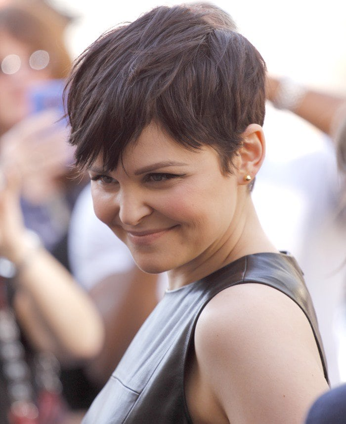 """Ginnifer Goodwin arrives at The Grove to appear on the Hollywood program """"Extra"""""""