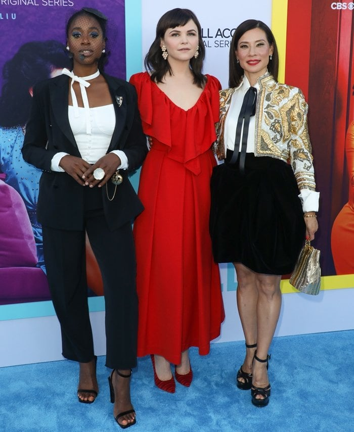 Ginnifer Goodwin, Lucy Liu and Kirby Howell-Baptiste attending the premiere of their new series Why Women Kill