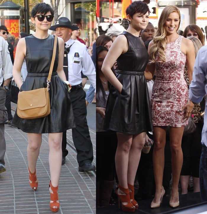 Ginnifer Goodwin and Renee Bargh smile for the cameras