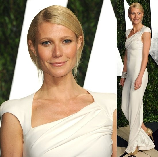 Gwyneth Paltrow wearing a white Tom Ford gown