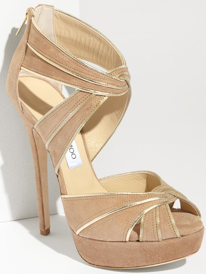 Jimmy Choo 'Koko' sandals in nude/gold