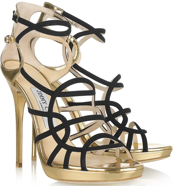 Jimmy Choo Bunting High Heel Sandal in Black