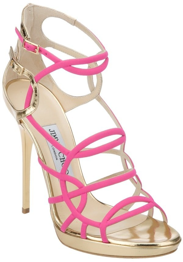 Jimmy Choo Bunting High Heel Sandal in Pink
