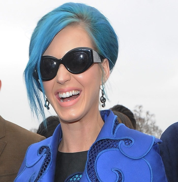 Katy Perry attends the Viktor & Rolf Fall/Winter 2012 presentation held at Espace Ephemere Tuileries