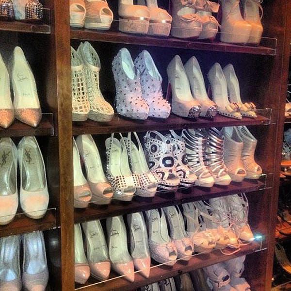 """Kim Kardashian's shoe closet - """"So nude"""""""