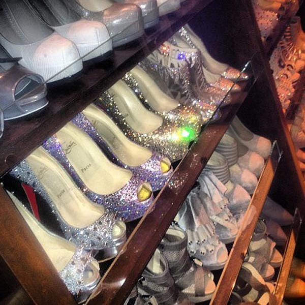 "Kim Kardashian's shoe closet - ""And a little bit of glitz and glam"""