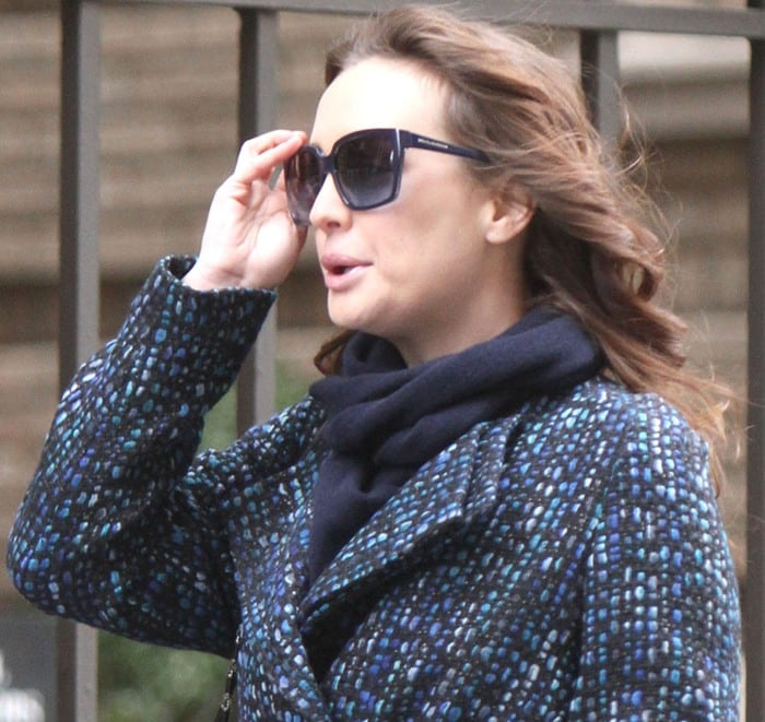 Leighton Meester films new scenes for Gossip Girl in New York City