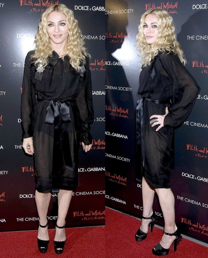 "Madonna at The Cinema Society and Dolce and Gabbana screening of ""Filth And Wisdom"""