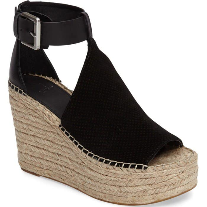 3181b4a44 Marc Fisher  Annie  Perforated Espadrille Platform Wedges