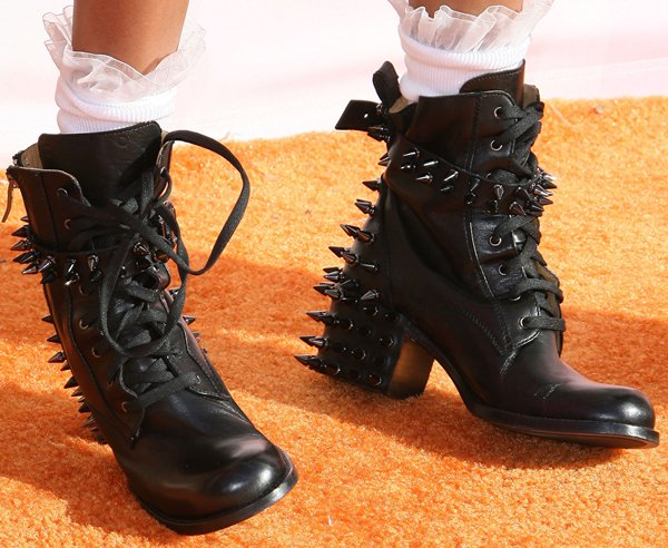 Willow Smith's black Chanel boots