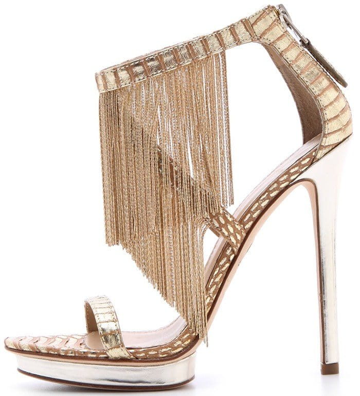 B by Brian Atwood 'Cassiane' Chain Fringe Sandals