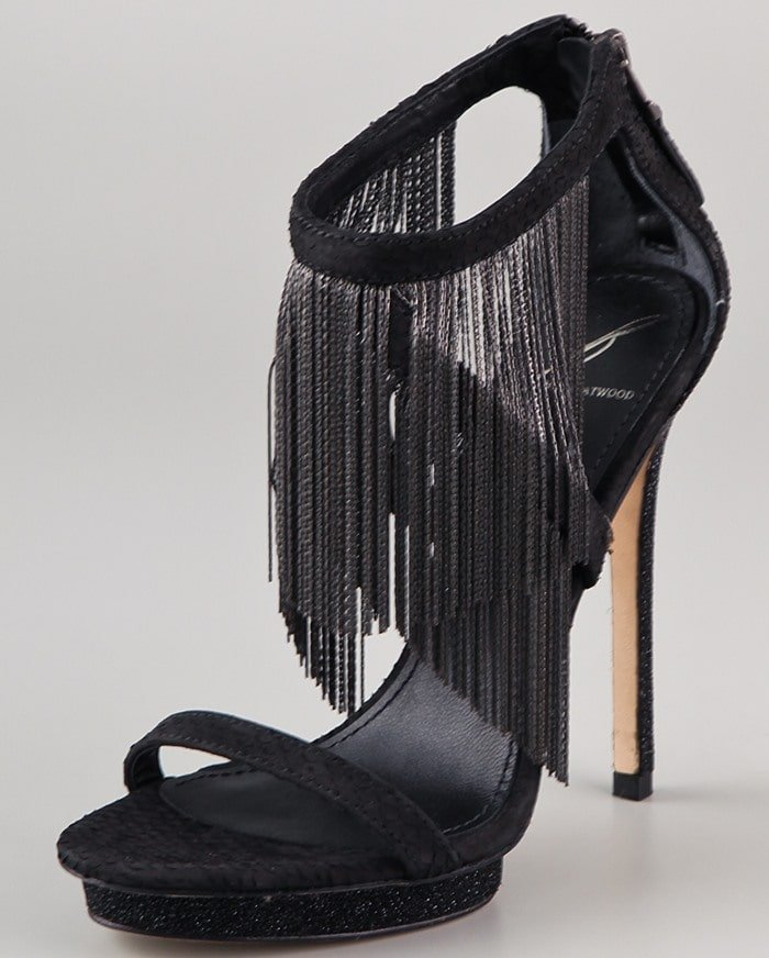 B by Brian Atwood Cassiane Chain Fringe Sandals