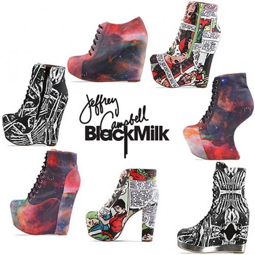 Black Milk X Jeffrey Campbell footwear collaboration