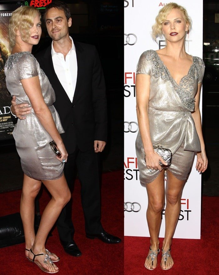 Charlize Theron and Stuart Townsend at the 2009 AFI Fest screening of 'The Road'