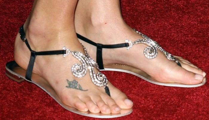 Charlize Theron's feet ingorgeous Giuseppe Zanotti flats