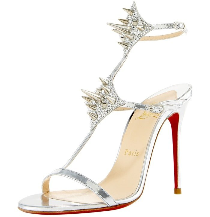 Silver Lady Max Spike T-Strap Sandals