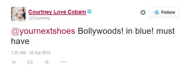 Courtney Love Cobain is a fan of Christian Louboutin Bollywoody