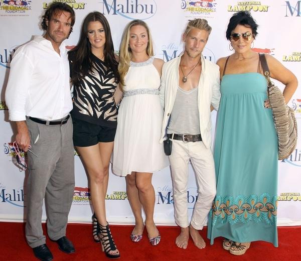 Eric Viscovicz, Khloe Kardashian, Elisabeth Rohm, and Kris Jenner at the 2009 Miss Malibu Pageant