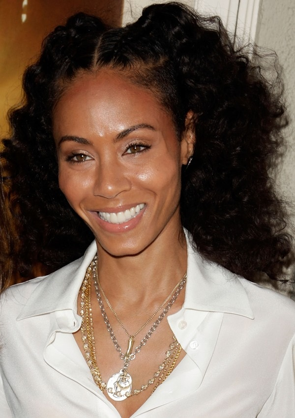 Actress Jada Pinkett-Smith arrives at the Los Angeles premiere of 'First Position' at the Aero Theatre on April 22, 2012 in Santa Monica, California