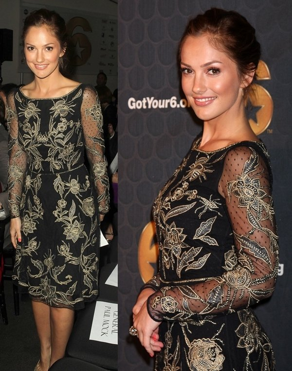 Minka Kelly attends the Got Your Six campaign launch at SAG-AFTRA's headquarters in Los Angeles on May 10, 2012