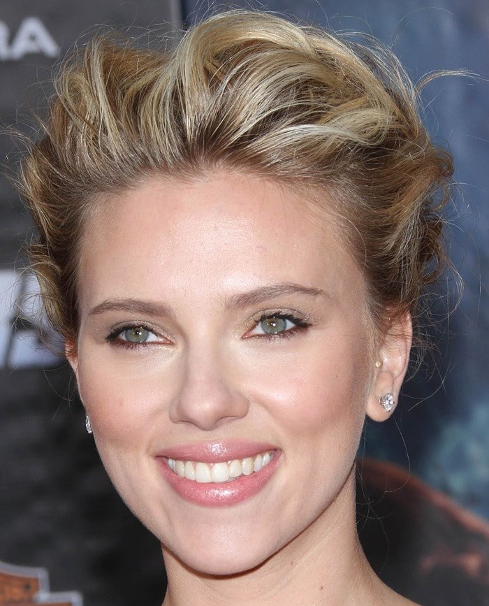 Scarlett Johansson at the premiere of The Avengers held at the El Capitan Theatre in Hollywood on April 11, 2012