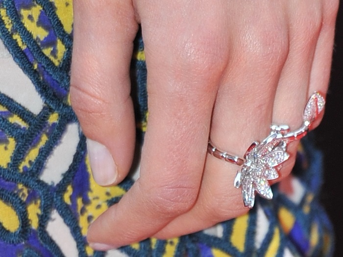 Taylor Schilling showing off her Van Cleef & Arpels jewels