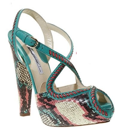 Brian Atwood Angela in Turquoise Snakeskin