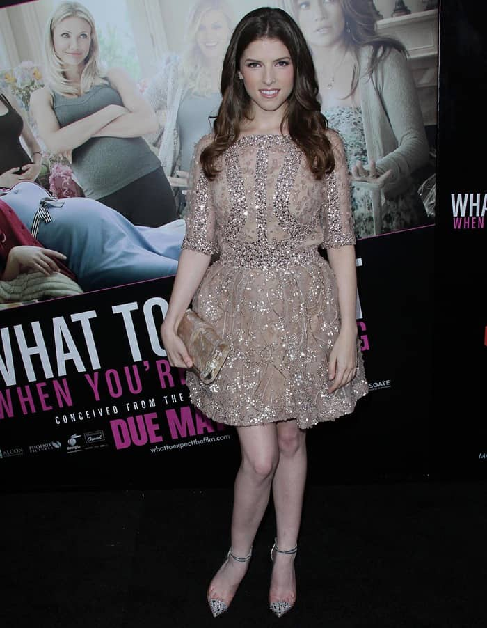 Anna Kendrick rocking the edgy and deluxe Christian Louboutin 'Just Picks' spiked pumps
