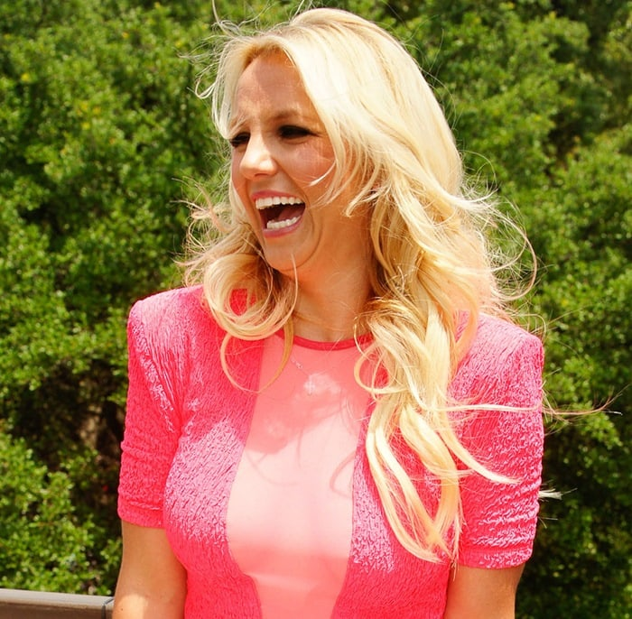 Britney Spears at 'The X Factor' auditions held at the Frank Erwin Center in Austin on May 24, 2012