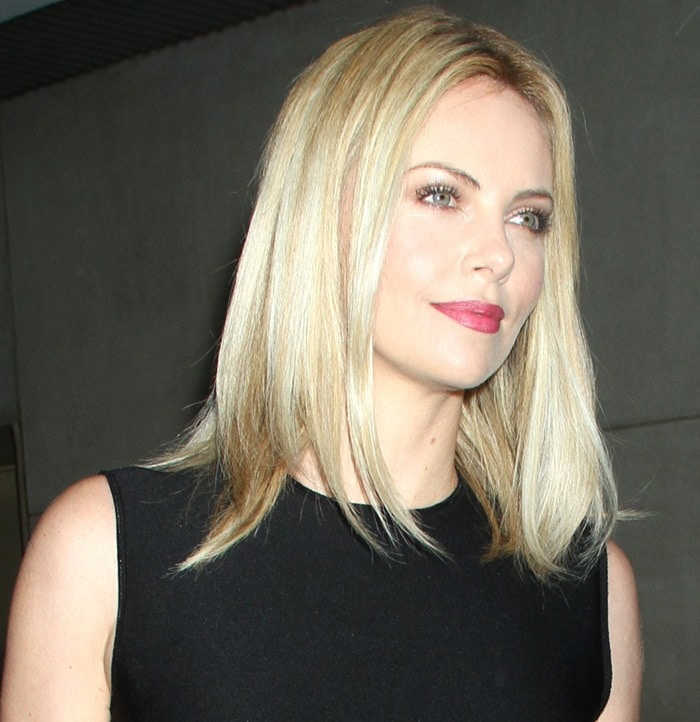 Charlize Theron arrives for a taping of 'Today' at the NBC Studios in New York City on May 29, 2012
