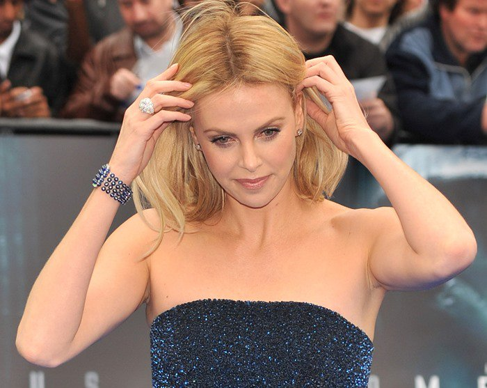 Charlize Theron at the Prometheus World premiere held at the Empire in London on May 31, 2012