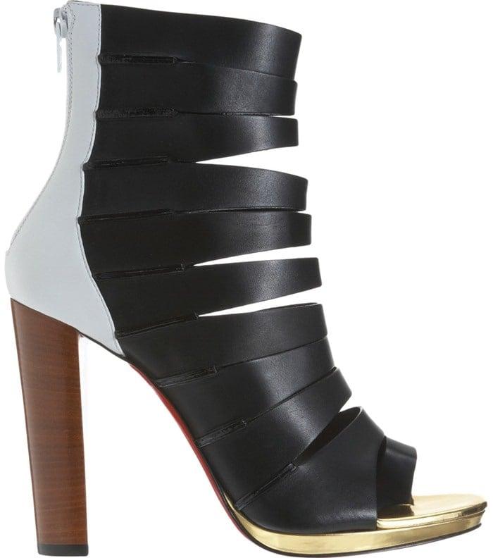 Christian Louboutin Black Decoupata Strappy Boot