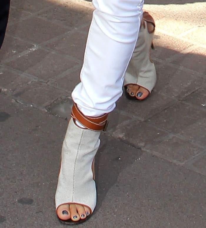 Eva Longoria wearing Giuseppe Zanotti ankle boots